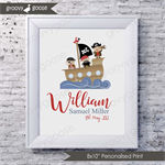 JOLLY PIRATES Personalised Art Print