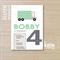 truck invite - boys invitation - printable invitation