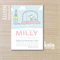 party invite - girls invitation - printable invitation - car with presents