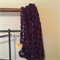 Eric's Fence - Mesh Wrap Scarf in Chunky Purple.