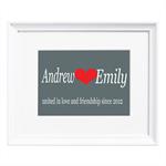 United in Love Personalised Print