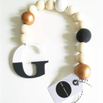 """Letter"" wood bead drop"
