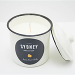 Scented Soy Candle in Shabby Chic Vintage Canister by Sydney Candle Studio