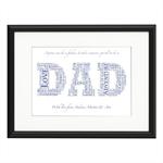 Dad Typography Personalised Print