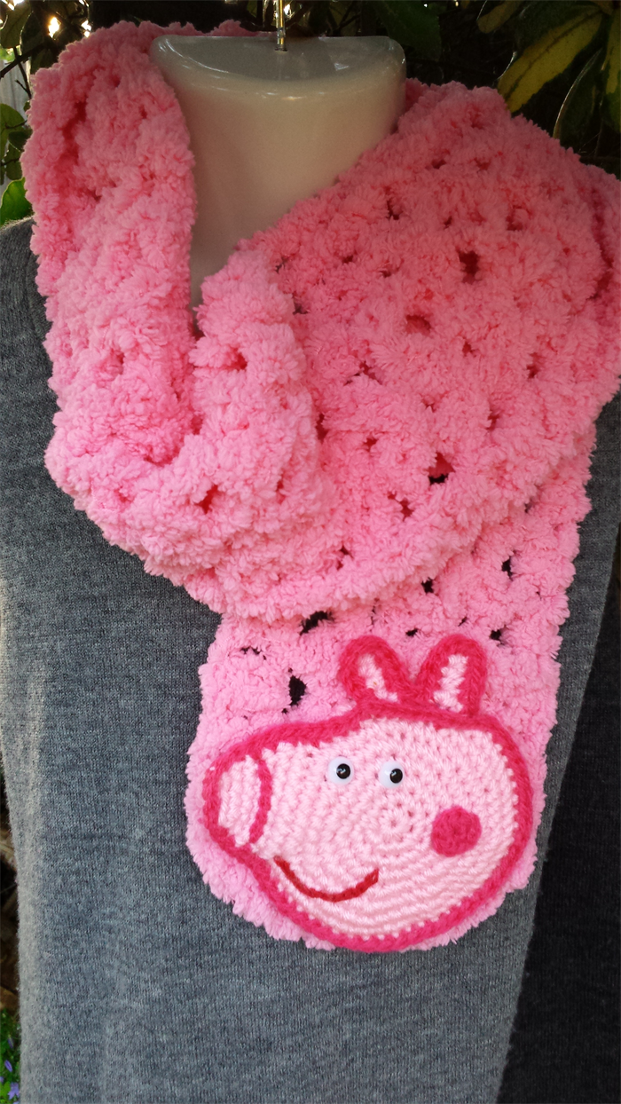 Pink scarf with \