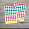 120 polka dot stickers / Rainbow colours