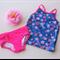 Blue and Pink Tankini Set - Size 7 - UPF50+