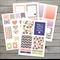 Set of Planner Stickers / Purple Geometric / 44 stickers