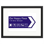 New Home Road Sign Personalised Print