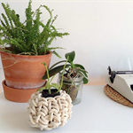 Rope Vessel - Knotted Trinket Basket- Storage solution -