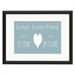 Love Lives Here Personalised Print