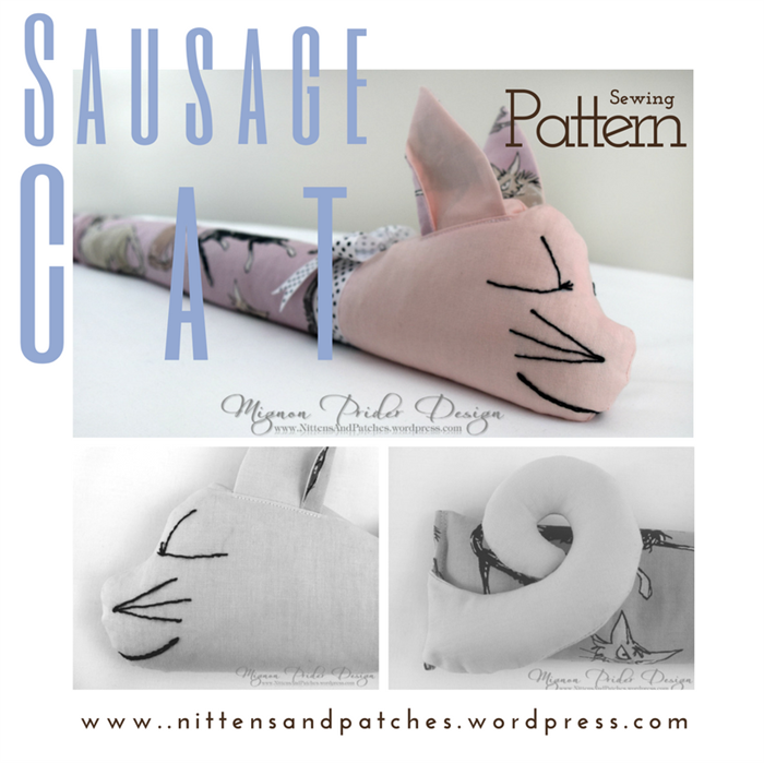 Sausage Cat Sewing Pattern; Door Draft Stopper; Home Decor; Digital ...