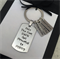 Fathers Day Keyring - Gift for Dad -  Hand Stamped Personalised Keyring Name Tag