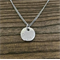 Stainless Steel Personalised Hand Stamped Double sided Disc Pendant Necklace