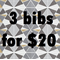 Bib combo set of 3