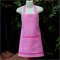 Child's Apron in Pink and White Check Fabric (Size Medium)
