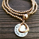 Stainless Steel Rose or Gold Triple Wrap Ball Bracelet can be worn as Necklace