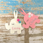 Personalised elephant, wall decoration, assorted, girls or boys room