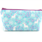 Fairytale Unicorn on Light Blue Cosmetic Bag, Zip Pouch, Makeup Bag, Travel Bag