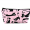 Black Cats on Pink Cosmetic Bag, Zip Pouch, Makeup Bag, Travel Bag