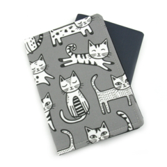Cats on Grey Passport Cover / Holder