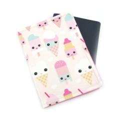 Cute Ice Cream Faces Passport Cover / Holder