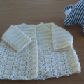Baby Matinee Jacket in assorted colours to fit 
