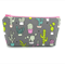 Cactus on Grey Cosmetic Bag, Zip Pouch, Makeup Bag, Travel Bag