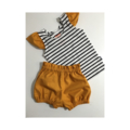 High Waisted Bloomers and Stripy Chesty with Flutter Sleeves