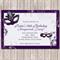 Masquerade Ball Party Personalised Birthday Invitation - YOU PRINT