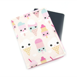 Cute Ice Cream Faces Passport Cover / Holder