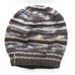 Mens Unisex Knitted Grey Blue White Brown . Winter Wool Beanie.  Adult