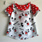 Mickey Mouse Tunic top and bubble shorts set size 2. Red spot and black.