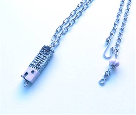 House is a home pink pendant necklace