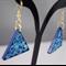 Ocean Blue Quilled Earrings