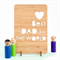 Father's Day card laser cut bamboo wood Happy Fathers Day Dad