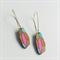 Gemstone Dangles - Blue, Pink, Gold + Natural Wood