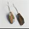 Gemstone Dangles - Silver, Gold + Natural Wood