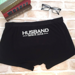 Husband Since Year; wedding underwear; personalised underwear; groom gift;
