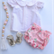 Pink spotty pleatie vintage blouse