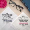 OWN WORDING personalised Hanky/Bride Hankie/Handkerchief wedding