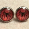 Spiderman Glass Dome Cabochon Stud Earrings