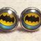 Batman Glass Dome Cabochon Stud Earrings