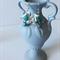 Blue glass colorized Angel wing earrings