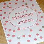 Happy Birthday card -  confetti