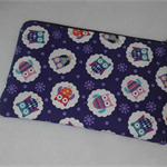 Owls Fully Lined Zippered Pouch/Makeup/Pencil Case