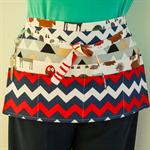 Utility teacher tool vendor craft cafe server daycare half apron with 6 pockets