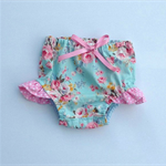 Ellie Floral Puff Bloomers Bloomies Shorties Nappy Cover