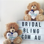 Page boy ; Ring bearer Gift ; personalised Teddy; Wedding Teddy Bear