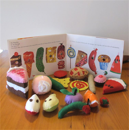Felt Play Food Set, Hungry Caterpillar Felt Set